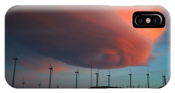 Lenticular Cloud At Sunset IPhone Case
