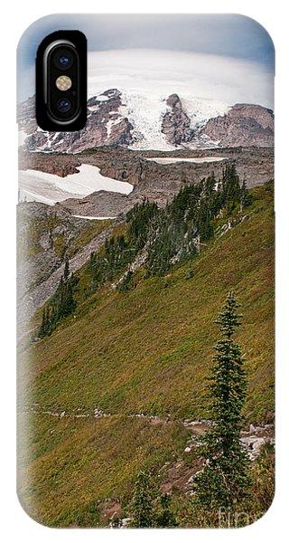Lenticular Cloud Atop Mt Rainier IPhone Case