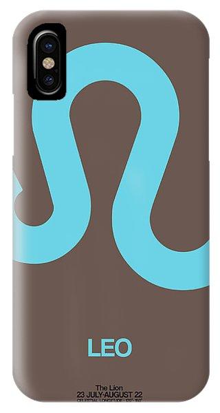 Leo Zodiac Sign Blue IPhone Case
