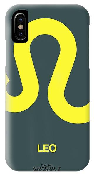 Leo Zodiac Sign Yellow IPhone Case
