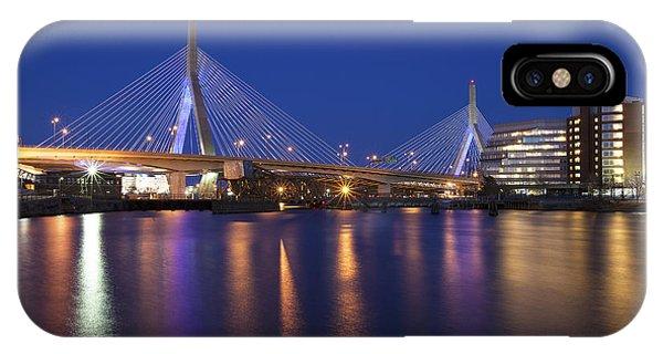 Zakim Bridge iPhone Case - Leonard P Zakim Bridge by Eric Gendron