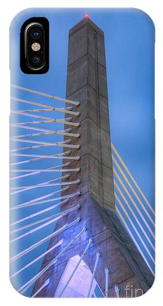 Zakim Bridge iPhone Case - Leonard P. Zakim Bunker Hill Bridge Ix by Clarence Holmes
