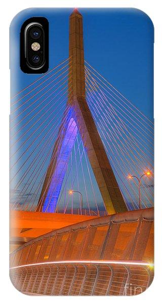 Zakim Bridge iPhone Case - Leonard P. Zakim Bunker Hill Bridge V by Clarence Holmes