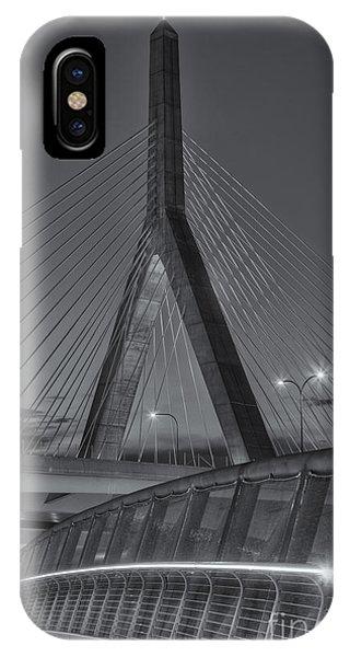 Zakim Bridge iPhone Case - Leonard P. Zakim Bunker Hill Bridge Vi by Clarence Holmes
