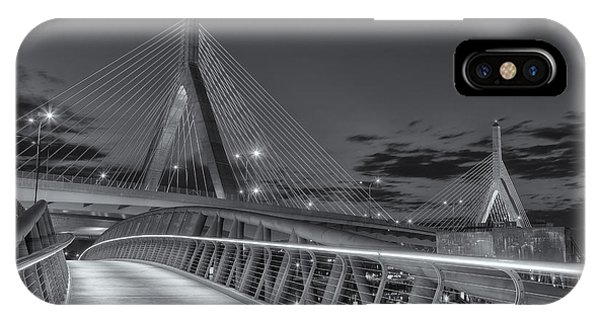 Zakim Bridge iPhone Case - Leonard P. Zakim Bunker Hill Bridge Viii by Clarence Holmes