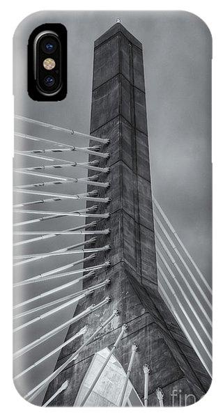 Zakim Bridge iPhone Case - Leonard P. Zakim Bunker Hill Bridge X by Clarence Holmes