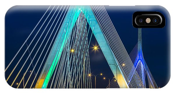 Zakim Bridge iPhone Case - Leonard P. Zakim Bunker Hill Memorial Bridge by Susan Candelario