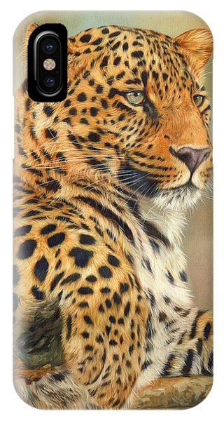 Wolf iPhone Case - Leopard by David Stribbling