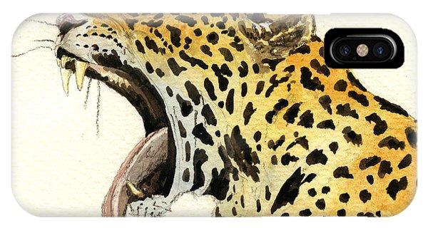 Leopard Head IPhone Case