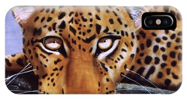 Leopard In A Tree IPhone Case