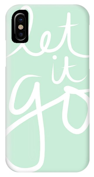 Typography iPhone Case - Let It Go by Linda Woods