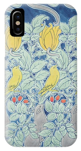 Caterpillar iPhone Case - Let Us Prey Wallpaper by Charles Francis Annesley Voysey