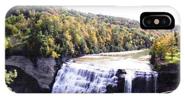 Letchworth State Park Middle Falls Panorama IPhone Case