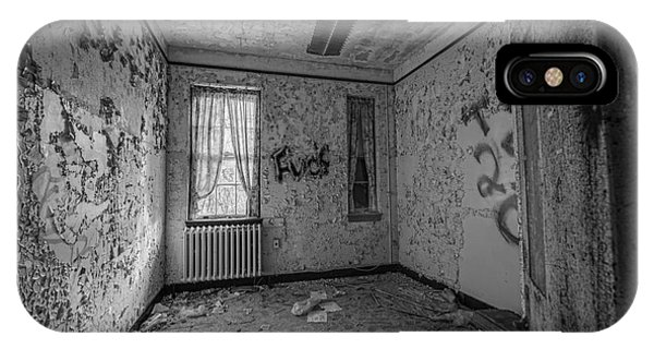 Urban Decay iPhone Case - Letchworth Village Room Bw by Michael Ver Sprill