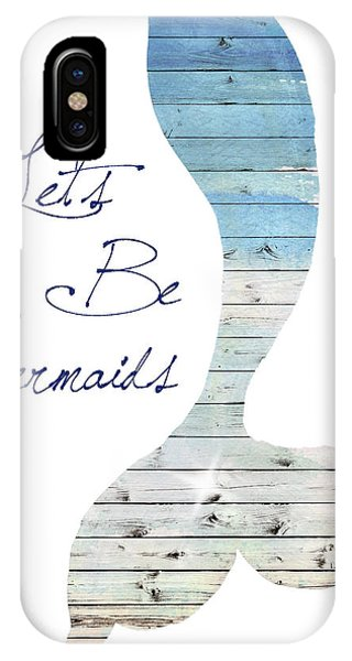 Mermaid iPhone Case - Let's Be Mermaids by Elizabeth Medley