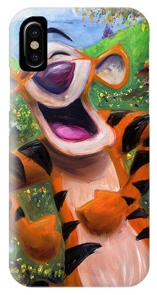 Tiger iPhone Case - Let's You And Me Bounce - Tigger by Andrew Fling
