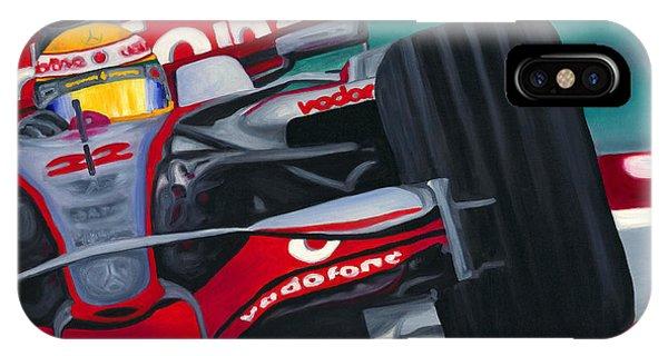 Lewis Hamilton F1 World Champion Pop IPhone Case