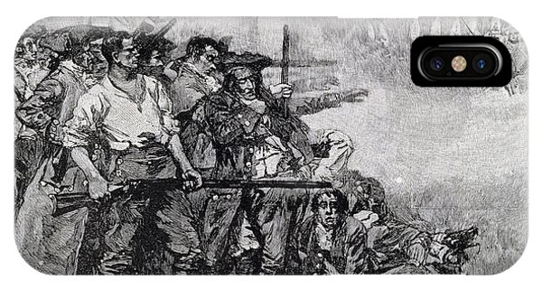 Revolutionary iPhone Case - Lexington Green - If They Want War, It May As Well Begin Here, Engraved By F.h. Wellington by Howard Pyle