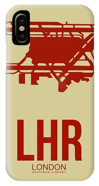 England iPhone Case - Lhr London Airport Poster 1 by Naxart Studio