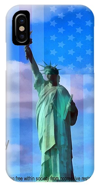 Battery D iPhone Case - Liberty Defined by Dan Sproul