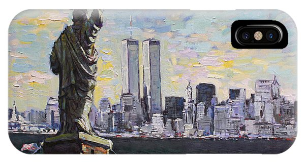 Statue Of Liberty iPhone Case - Liberty by Ylli Haruni