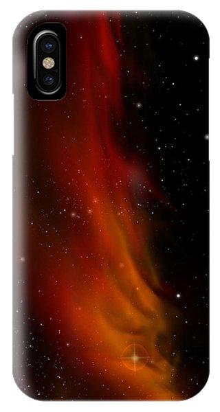 Liberty's Flame Nebula Phone Case by Julie Rodriguez Jones