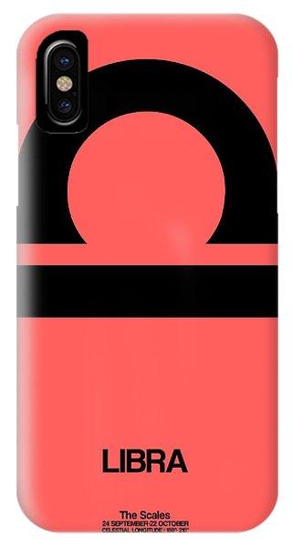 Libra Zodiac Sign Black IPhone Case