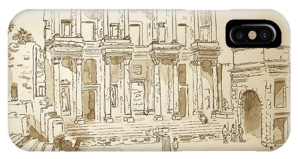 Library At Ephesus II IPhone Case