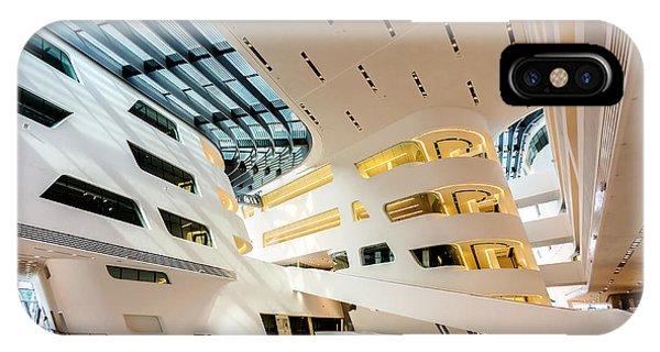 Library Interior 2  Zaha Hadid Wu Campus Vienna  IPhone Case