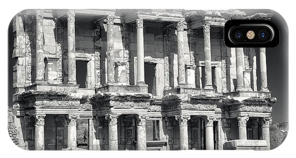 IPhone Case featuring the photograph Library Of Celsus Ruins At Ephesus by Brad Brizek