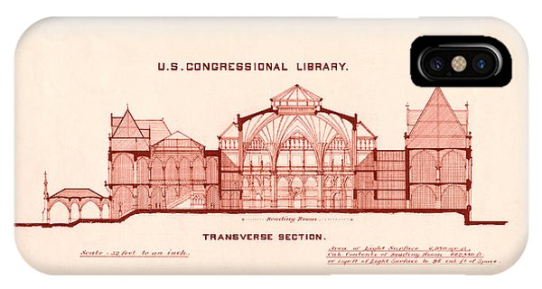 Library Of Congress Design 1877 IPhone Case