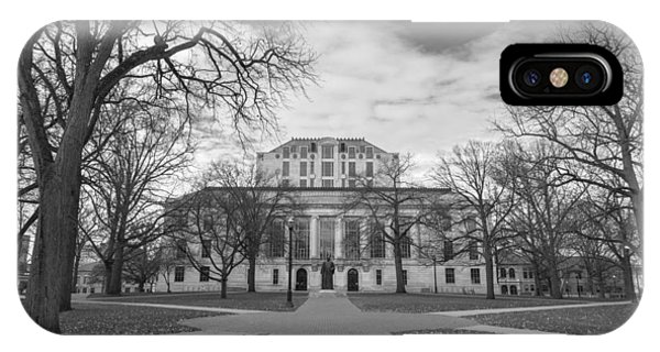 Library Ohio State University Black And White  IPhone Case