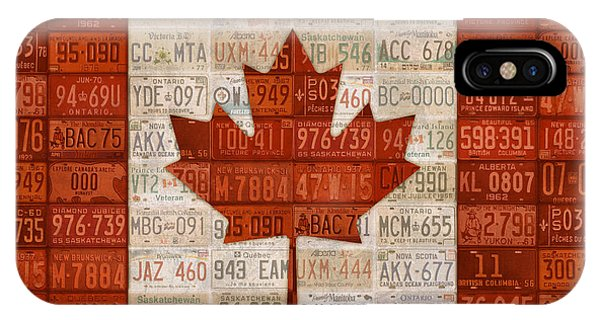 License iPhone Case - License Plate Art Flag Of Canada by Design Turnpike