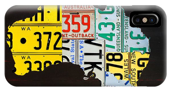 Canberra iPhone Case - License Plate Map Of Australia by Design Turnpike