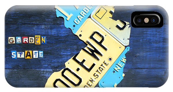 License Plate Map Of New Jersey V2 By Design Turnpike IPhone Case