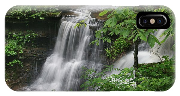 Lichen Falls Ozark National Forest IPhone Case
