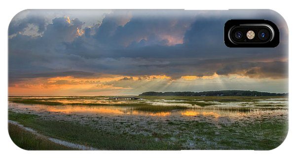 Tidal Marsh iPhone Case - Lieutenant Island Sunset by Bill Wakeley