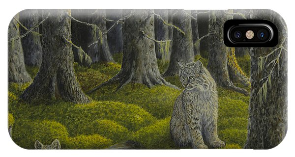 Lynx iPhone Case - Life In The Woodland by Veikko Suikkanen