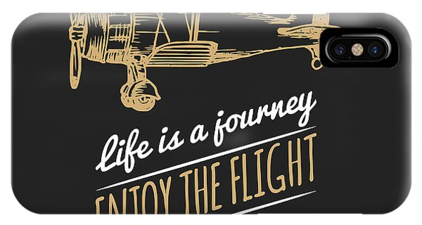 T Shirts iPhone Case - Life Is A Journey, Enjoy The Flight by Vlada Young