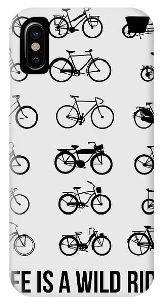 Witty iPhone Case - Life Is A Wild Ride Poster 1 by Naxart Studio