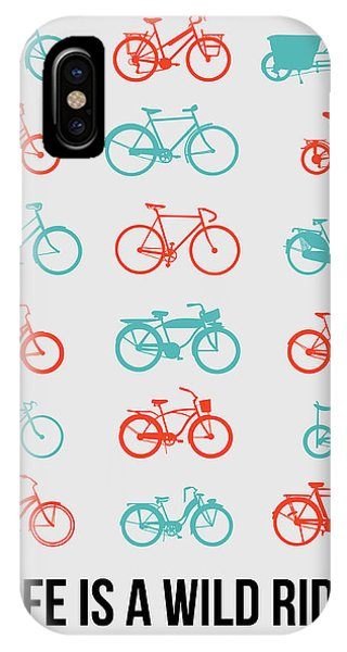 Witty iPhone Case - Life Is A Wild Ride Poster 2 by Naxart Studio