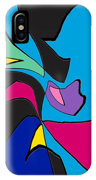Original Abstract Art Painting Life Is Good By Rjfxx.  IPhone Case