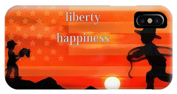 Life Liberty Happiness IPhone Case