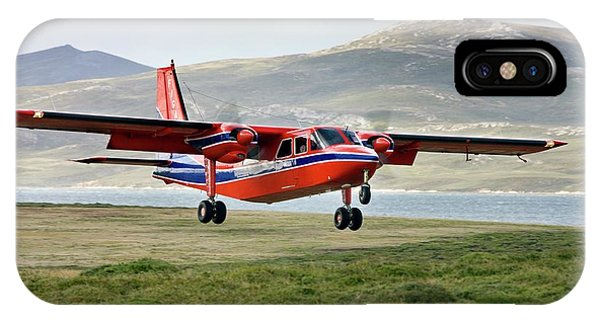Islanders iPhone Case - Light Aircraft Landing by Steve Allen/science Photo Library