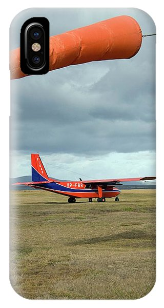 Islanders iPhone Case - Light Aircraft On An Airfield by Steve Allen/science Photo Library