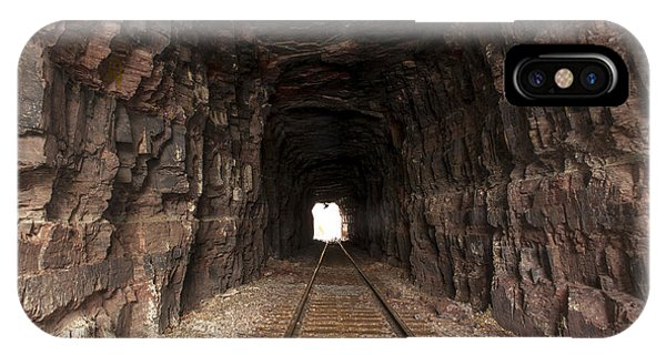 IPhone Case featuring the photograph Light At The End Of The Tunnel by Fran Riley