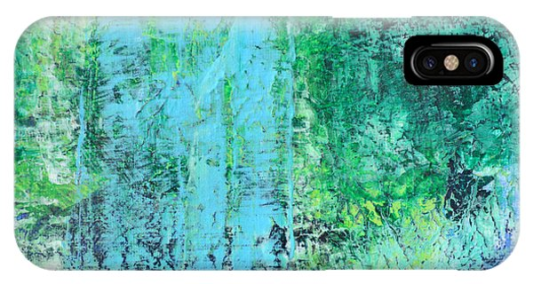 Light Blue Green Abstract Explore By Chakramoon Phone Case by Belinda Capol