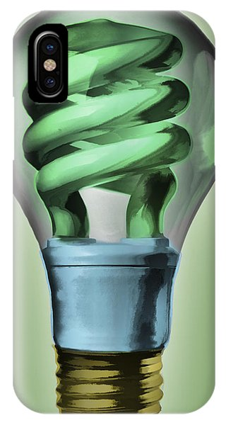 IPhone Case featuring the painting Light Bulb by Bob Orsillo