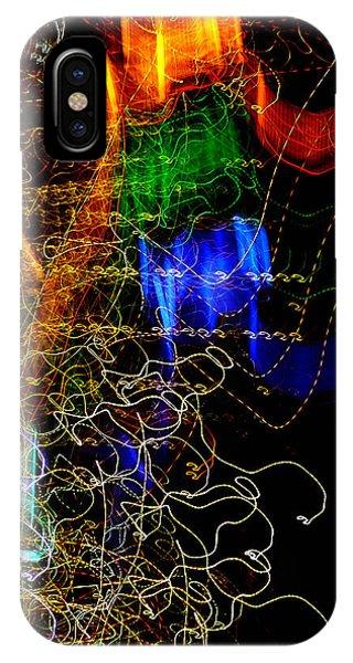 Light Graffitti Resembling Sea Horses IPhone Case