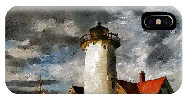 Light House In A Storm IPhone Case